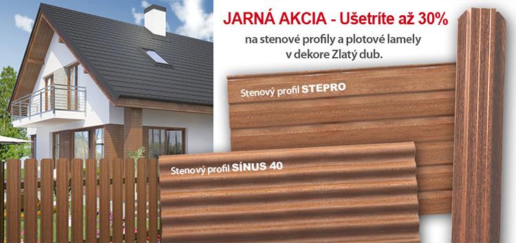 Farba Zlatý dub na stenové profily a plotové lamely bez príplatku